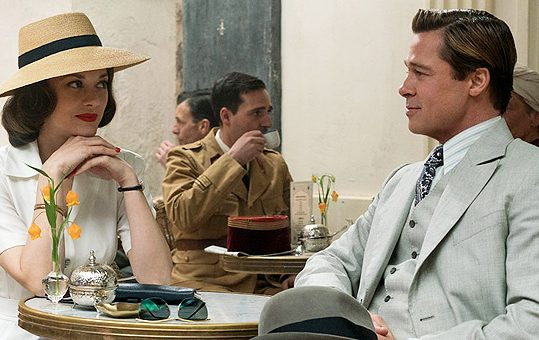 Brad Pitt plays Max Vatan and Marion Cotillard plays Marianne Beausejour in Allied from Paramount Pictures.
